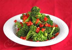 Easy Stir-Fry Broccoli and Red Bell Pepper Recipe - Jeanette's Healthy Living