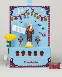 A Vida Portuguesa - Trono de Santo António San Antonio, Catholic, Projects To Try, Birthday Cake, Graphic Design, Frame, Gifts, Inspiration, Bujo