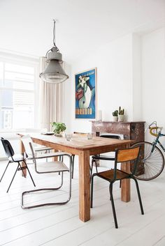 eclectic mix of dining chairs via decor8