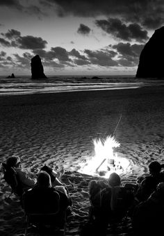Some of the best times hey - out on a beach with a bonfire - good friends - the ocean - totally wicked