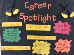 Elementary School Counseling: Career Awareness Bulletin Board