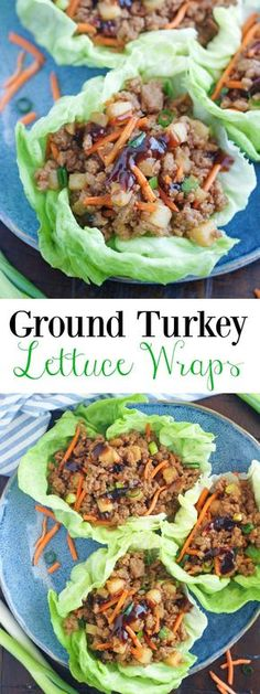 lettuce ground turkey wraps baker boys 5 Ground Turkey Lettuce Wraps 5 Boys BakerYou can find Ground turkey recipes and more on our website Healthy Turkey Recipes, Healthy Ground Turkey, Chicken Recipes, Healthy Chicken, Ground Turkey Meals, Recipes With Ground Turkey, Ground Chicken, Ground Beef, Simple Ground Turkey Recipe