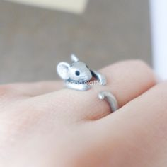 mouse ring, mice ring, animal ring, antique mouse from AppleLatte by DaWanda.com