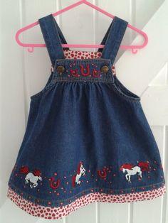 BABY BLUES 'PONY' DRESS £12.50