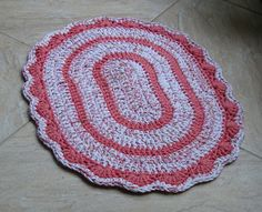 Gráfico para alfombras ovaladas de trapillo / T-shirt yarn Oval Rugs pattern