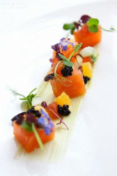 Beautifully presented fish dish from a Michelin starred restaurant. Beautifully presented fish dish from a Michelin starred restaurant. Michelin Star Food, Fish Dishes, Restaurant Recipes, Food Design, Food Presentation, Gourmet Recipes, Food Inspiration, Love Food, Food Photography