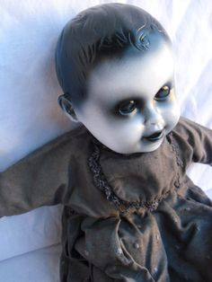 Tamasi 13 OOAK Creepy Scary Vintage Altered Doll by DeceasedArt, $30.00