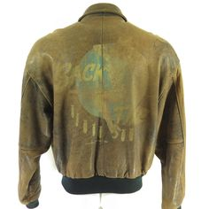 1c09b92d71b Vintage 80s Sack Time Pin Up Type A-2 Jacket Mens XXL Avirex Flight Leather