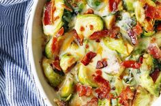 Creamy Cheesy Brussels Sprouts with Bacon – Modern Honey Skillet Chocolate Chip Cookie, Chocolate Chip Banana Bread, Skillet Cookie, Easy French Bread Recipe, Homemade French Bread, Best Chicken Tortilla Soup, Chicken Recipes, Slow Cooker Recipes, Cooking Recipes