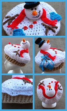 Melted Snowman pattern by Heidi Yates. All sizes, newborn to adult, included.