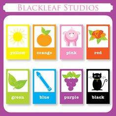 Color Flash Cards - DIY Printable for toddlers, primary education, nursery…