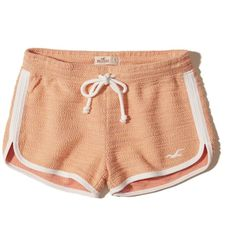 Hollister Textured Curved Hem Icon Shorts (210 MXN) ❤ liked on Polyvore featuring shorts, bottoms, short, hollister, heather orange, hollister co. shorts, orange shorts, orange short shorts, curved hem shorts and short shorts