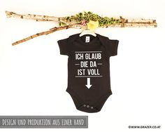 Bodys - Babybody mit Spruch | 7 - ein Designerstück von Dr_Grazer_und_Co bei DaWanda Bodysuit, Game Design, Onesies, Unisex, Kids, Etsy, Clothes, Fashion, Grandma And Grandpa