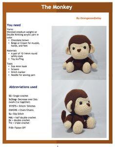 He encontrado este interesante anuncio de Etsy en https://www.etsy.com/es/listing/180573631/pdf-amigurumi-pattern-monkey-boy