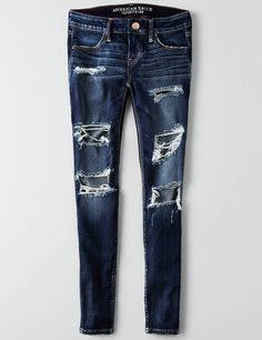 Shop at American Eagle for Jeggings that look as good as they feel. Browse our jeggings in different rises (from low to highest), in different washes and stretch levels. Pantalones American Eagle, American Eagle Jeans, Denim Leggings, Jeggings, Distressed Leggings, Joggers, Shorts, Cute Ripped Jeans, Women's Jeans