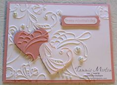 Tammie Stamps: Elegant Lines Heart card