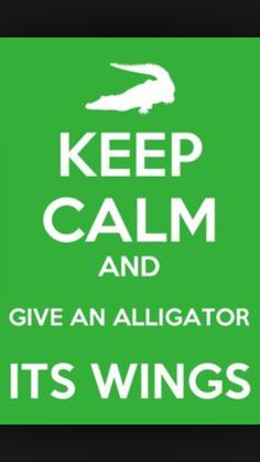 Become a member of the swamp family and give an alligator it's wings!