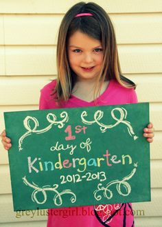 grey luster girl: First Day of School Chalkboard First Day Activities, Activities For Kids, Crafts For Kids, School Chalkboard, Chalkboard Art, Little Man Style, Starting School, Grad Pics, 1st Day Of School