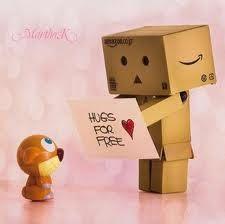 Hugs offering Danbo