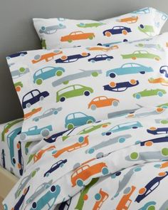 Graphic Traffic Flannel Bedding