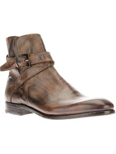 Endless | Brown distressed leather Boot
