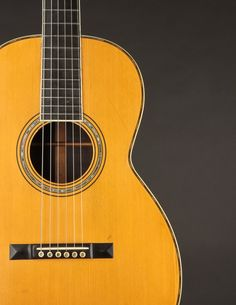 This Martin 00-30 from 1903 has a quality of tone that is purely sublime, combining the best aspects of steel and gut into one magical instrument. Martin Acoustic Guitar, Small Bridge, Hard Pressed, Guitars, Silver Plate, At Least, Instruments, Delicate, Steel