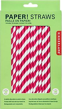 these Red & White Paper Straws from #papersource