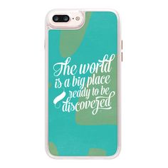 iPhone 7 Plus/7/6 Plus/6/5/5s/5c Case - This big world ($45) ❤ liked on Polyvore featuring accessories, tech accessories, iphone case, apple iphone case, glitter iphone case, iphone cover case, transparent iphone case and iphone hard case