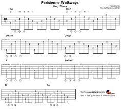 Parisienne Walkways, Gary Moore - fingerstyle guitar tab