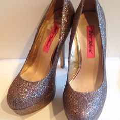 Betsey Johnson pink sparkly heels size 7 Betsey Johnson pink sparkly heels size 7. Good used condition. Betsey Johnson Shoes Heels