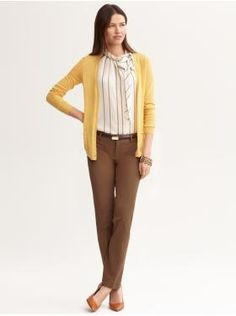 not in love with the blouse, but the color combo is fall work perfect