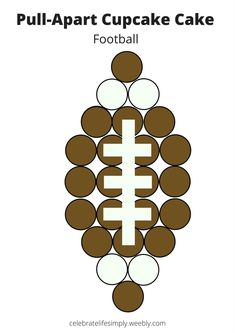 All Pull-Apart Cupcake Cake Templates Football Cupcake Cakes, Football Desserts, Football Party Foods, Football Themes, Football Football, Football Parties, Football Birthday Cake, Football Season, Football Cakes For Boys