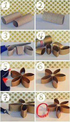 DIY fleurs en rouleaux de PQ le blog de marie louise