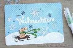 Frau Vögeli: Snowy Christmas - Lawn Fawn / Create A Smile