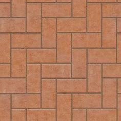 Textures Texture seamless | Cotto paving herringbone outdoor texture seamless 06748 | Textures - ARCHITECTURE - PAVING OUTDOOR - Terracotta - Herringbone | Sketchuptexture Road Texture, Texture Tile, Paving Pattern, 3d Architectural Visualization, Seamless Textures, 3ds Max, Floor Design, Decoration, Terracotta