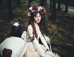 Model –Beckii Cruel Hair – Anna Lucia Hair Studio Make-up – Erica Stephenson Nails – Christine Cowley Flower head-dress – Heidi Keane Horses – Rachel Quayle Transport and general help – Kris 'Hoss' Fargher And a massive thank you to Ciara Kilgallon who arranged everything and everyone, handled horses, made things happen and put together such an amazing team of people. Portrait by Phil Kneen