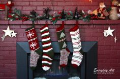 Everyday Art: Knit Christmas Stocking Pattern