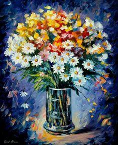 Breathtaking Flower Paintings by Leonid Afremov-AmO Images-AmO Images