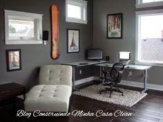 Construindo Minha Casa Clean: Home Office e Escritórios Masculinos Decorados!