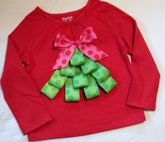 He encontrado este interesante anuncio de Etsy en https://www.etsy.com/es/listing/60471157/ribbon-christmas-tree-shirt