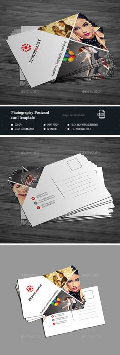 Photography Post Card Template PSD #design Download: http://graphicriver.net/item/photography-post-card-templates/14293113?ref=ksioks