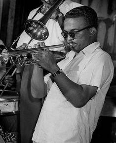 Jazz trumpeter Howard McGhee in a nightclub circa 1952 in New York City, New York.