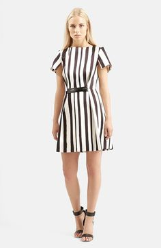 Topshop+'Shoto'+Stripe+A-Line+Dress+available+at+#Nordstrom