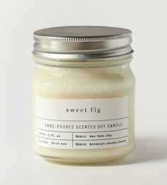 sweet fig soy candle. like medical case of illness paper