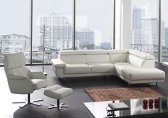 COLTELLO - Comfortabele lederen salon met metalen poten. Erg trendy tegenwoordig | Meubelen Crack