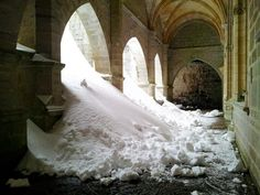 Roncesvalles In winter... This is why I will NOT walk the Camino de Santiago in the winter.