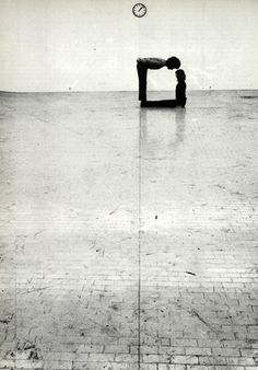 "♂ black & white 90 degree klaus rinke - ""Time-Space-Body and Action"" Gallery L'Attico in Rome 1972 Creative Photography, Art Photography, Geometric Photography, Ligne D Horizon, Photo D Art, Belle Photo, Black And White Photography, Monochrome, Photos"
