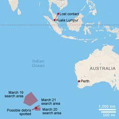 Map: Malaysia Airlines Flight 370 - CNN.com . 24 Mar 2014