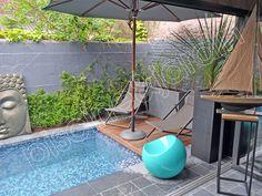 Une mini piscine, un petit bijou en plein centre ville du Touquet.
