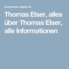 Thomas Elser, alles über Thomas Elser, alle Informationen
